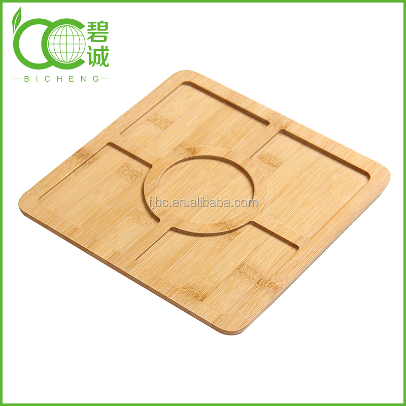 Restaurant Supplies Bamboo Partition Food Tray