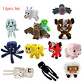 Free Shipping Minecraft plush toy Brinquedos Toys High Quality Plush Cartoon Game Toys 13pcs lot