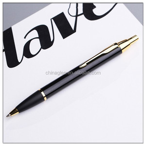 Best selling metal rotate ballpoint pens solid color kugelschreiber print logo