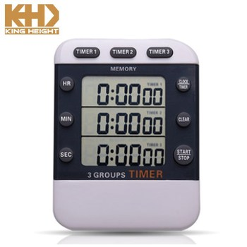 KH-TM041 KING HEIGHT Restaurant Loud Alarm Cooking Reminder Clear 3 Channels Timers For Multiple Events
