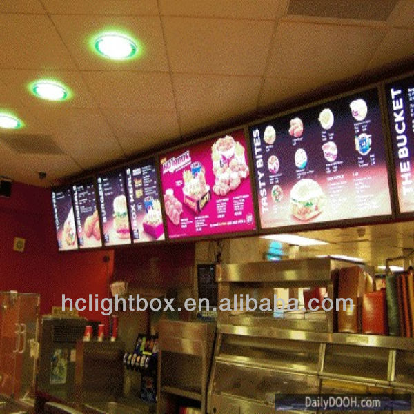 Restaurant Display Board Menu Light Box