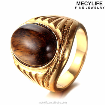 fashion cocktail ring steel jewelry product hot head plated punk rock men tiger hiphop stainless new store biker gold anillos rings