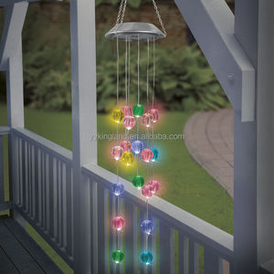 Kingland decorative solar lights wind chimes design solar wind chimes in 20 led
