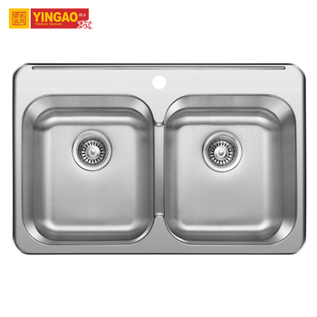 Hot Sale Japan Undermount Double Bowl Stainless Steel Handmade Kitchen Sink