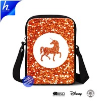Small Canvas Messenger Bag for Men Mini Satchel Unicorn Printing Sling Crossbody Shoulder Bag