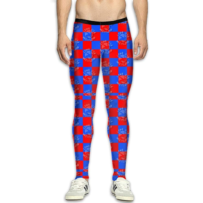 cc01a3dedc40a Get Quotations · Fri USA Wrestling Logo Compression Pants Running Tights  Gym Tights for Men Zipper
