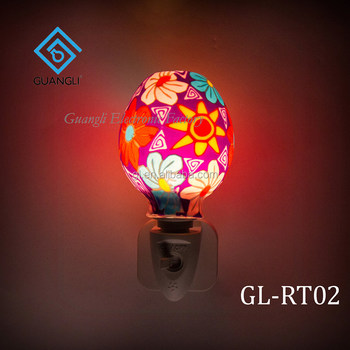 Aroma Essential Oil Soft Art Gl Flowers Design Night Light For Indoor Decoration 110v 220v 7w Decorationnight