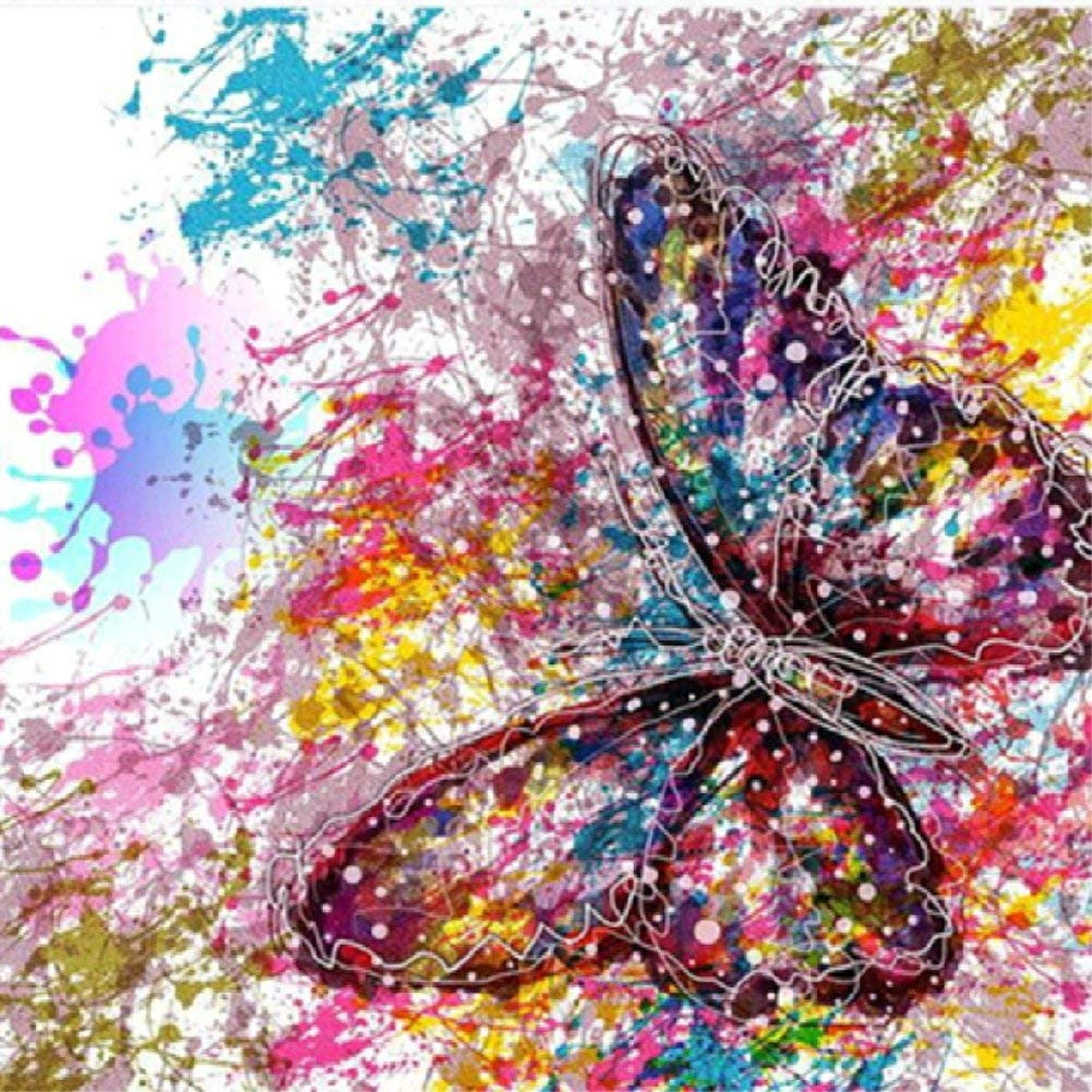 TianMai Hot New DIY 5D Diamond Painting Kit Crystals Diamond Embroidery Painting Pasted Paint By Number Kits Stitch Craft Kit Home Decor Wall Sticker - Butterfly, 30x30cm