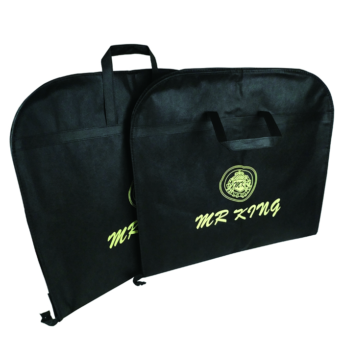 Customized non-woven travel dust cover foldable  Garment Suit Bag