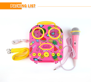 Kid Funny Gift Music Toy Girls Boys Microphone Karaoke Singing children simulation microphone bag