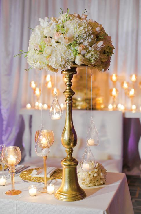 Wfch009 Golden Flower Pot For Wedding Tabel Centerpiece Flower