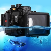 2017 consumer electronics online shopping PULUZ 40m Underwater Depth Diving Case Waterproof Camera Housing for Panasonic Camera