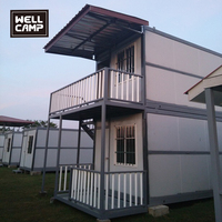 WELLCAMP luxury morden design 2 Story Container House flat pack container homes villa mobile container office plans