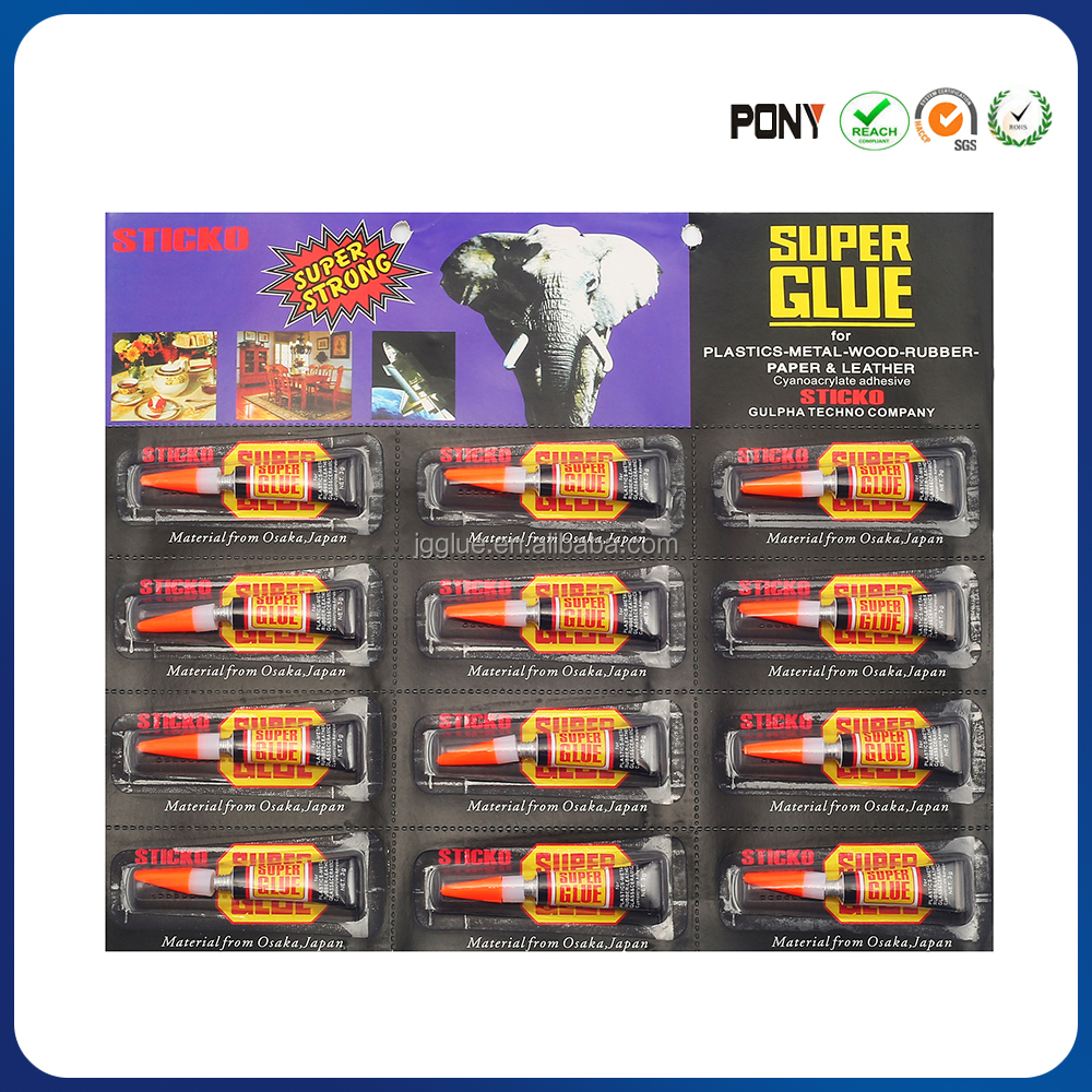 Authentic Super Glue 3g Blister Black Card For OEM