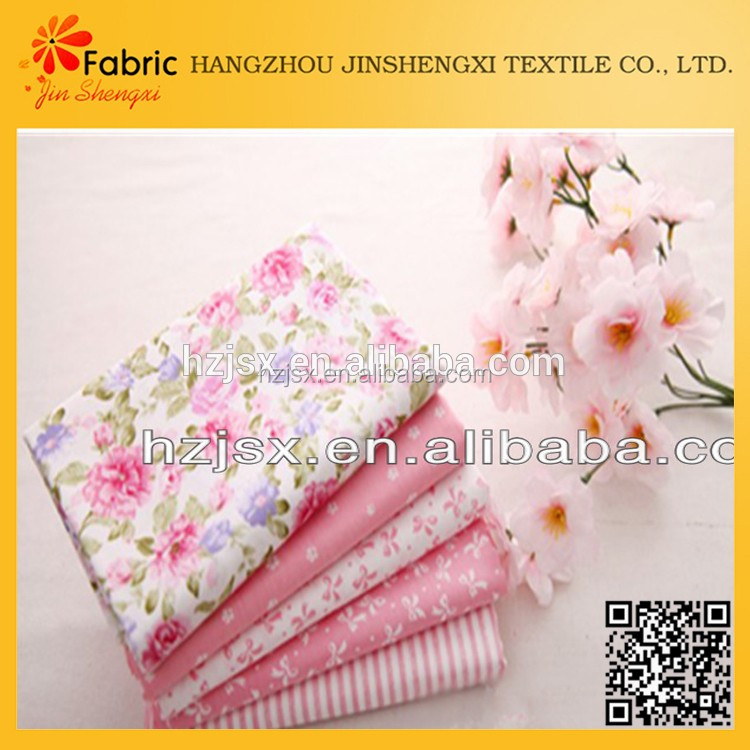 Hot selling smooth handfeeling baby fabric cotton printed textil