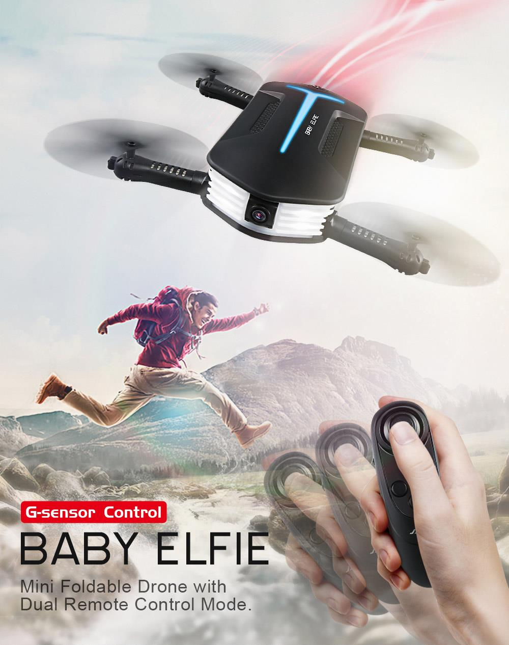 Popular JJRC H37 Mini Baby Elfie 720P Foldable Arm WIFI FPV Altitude Hold RC Quadcopter RTF Selfie Drone