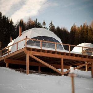 transparent waterproof pvc domes , glamping geodesic dome house for sale