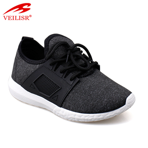 Fashion fabric trainers women injection cheap sport shoes