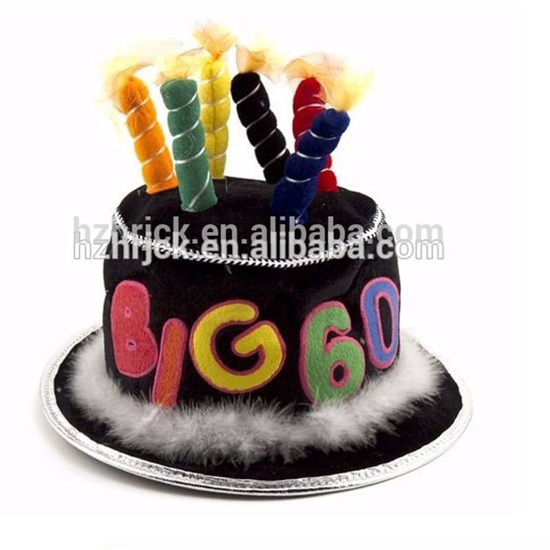 Adult Birthday Cakes Hats Happy Cake Hat With Flashing Candles