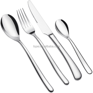 Stainless Steel Flatware silverware Cutlery Set Include Knife/Fork/Spoon Simple Classic Design Mirror Finished Dishwasher Safe