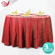 Home textile Indian embroidered waterproof table cloth ruffled teal table cloth