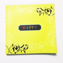 High quality recyclable colorful printing birthday greeting photo cards
