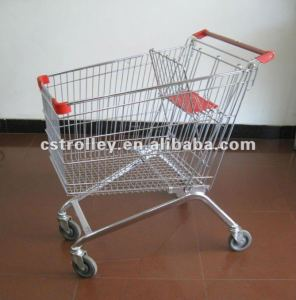 150 Liters European style China trolley,China supermarket trolley