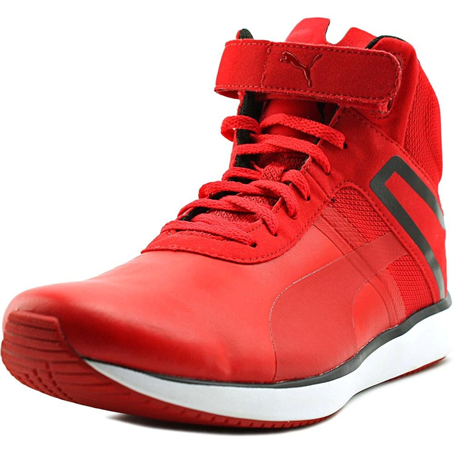 Buy Puma F116 Skin Mid Sf Men Round Toe Synthetic Red Basketball