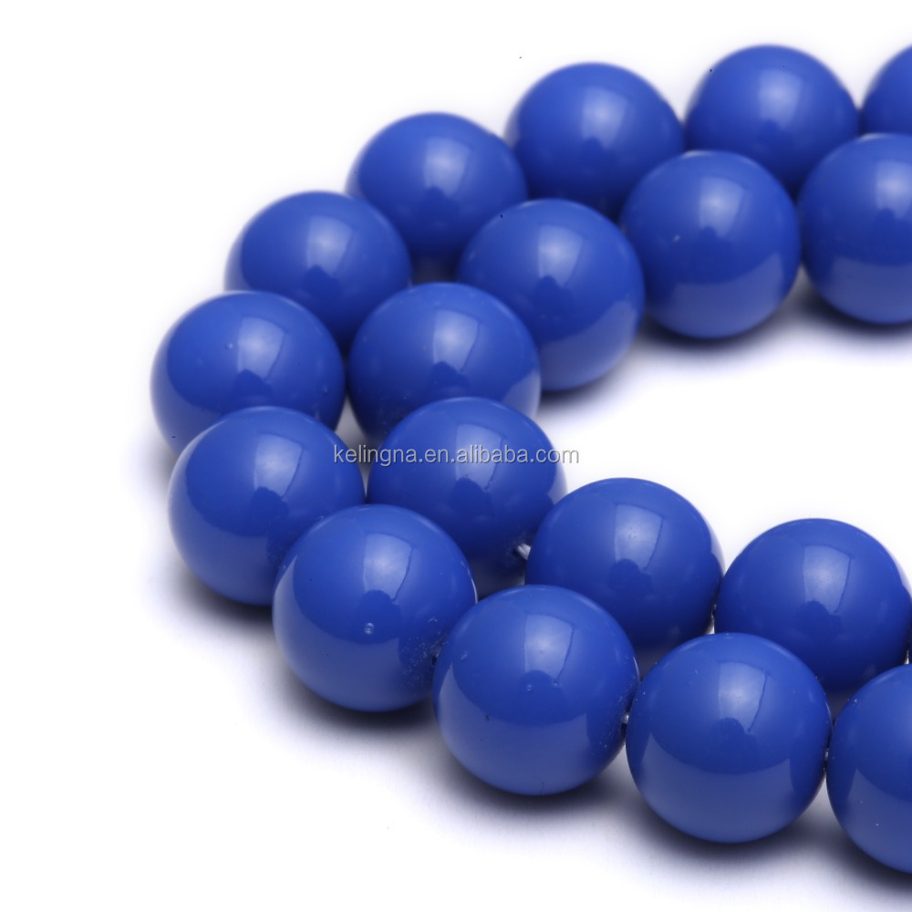 Sapphire blue Color Glass Pearl Beads Loose Beads for jewerlry making