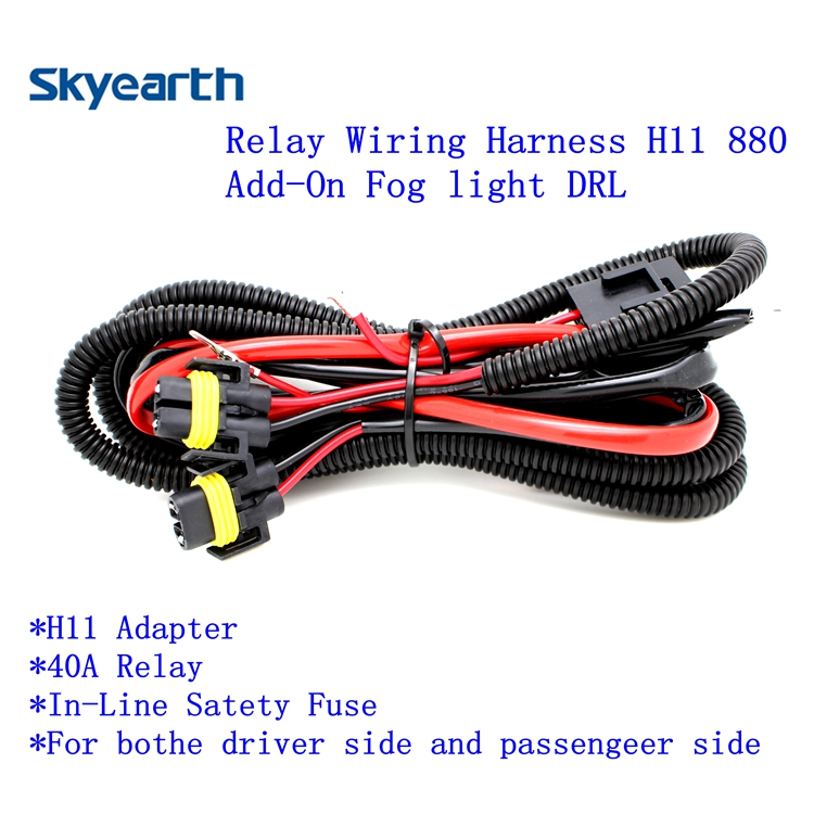 Relay Wiring Harness For HID H11 880 wholesale hid relay harness online buy best hid relay harness Wiring Harness Connector Plugs at cos-gaming.co