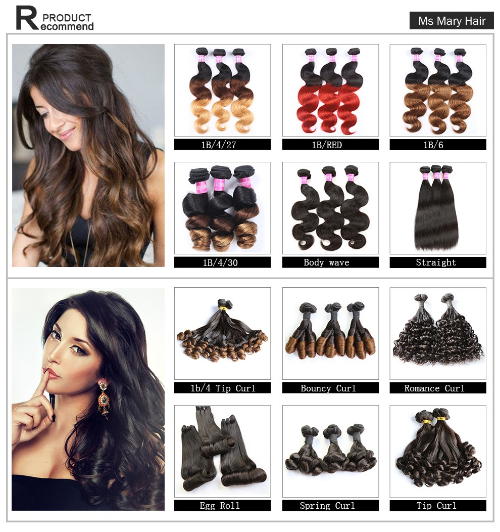 Ombre Hair Extensions Color 1b 4 27 Remy Brazilian 8a Grade 100