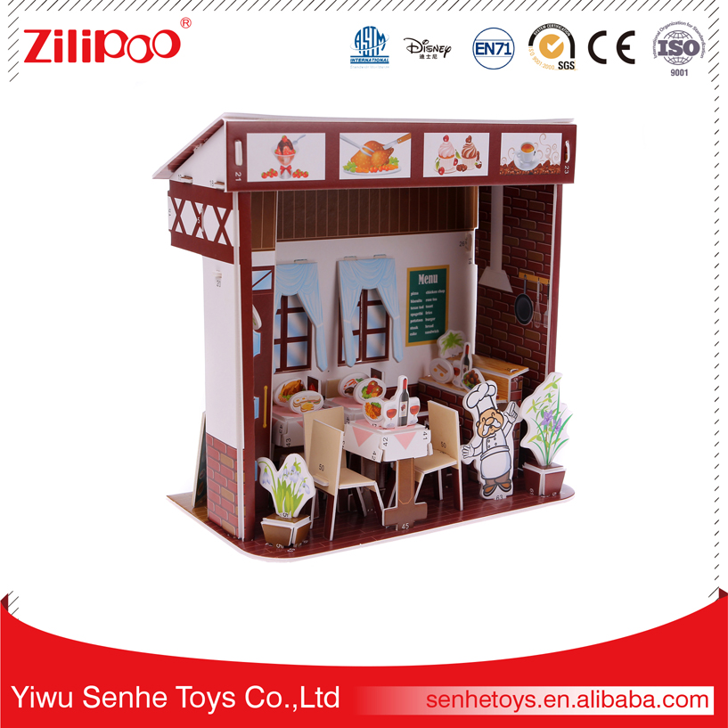 YWSH EN71 Approved Novelty Best Birthday Gifts For Teenage Girls Baby Toys Educational Western Restaurant Puzzle