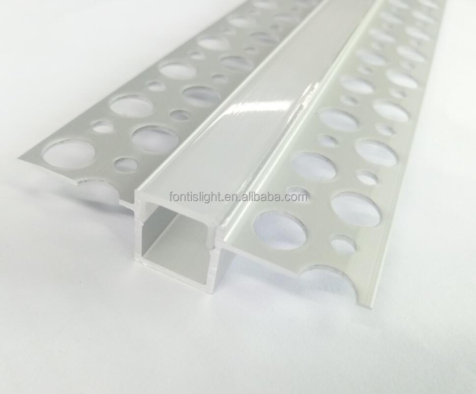 10mm 20mm wide led strip light use/ Plaster Aluminum profile for drywall/marble