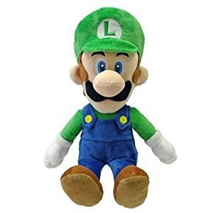 "Sanei Officially Licensed Super Mario Plush 15"" Large Luigi Japanese Import"