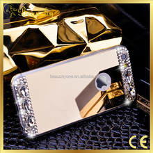 2017 HOT SELLING diamond phone case mirror phone case tpu cellphone case for iphone5