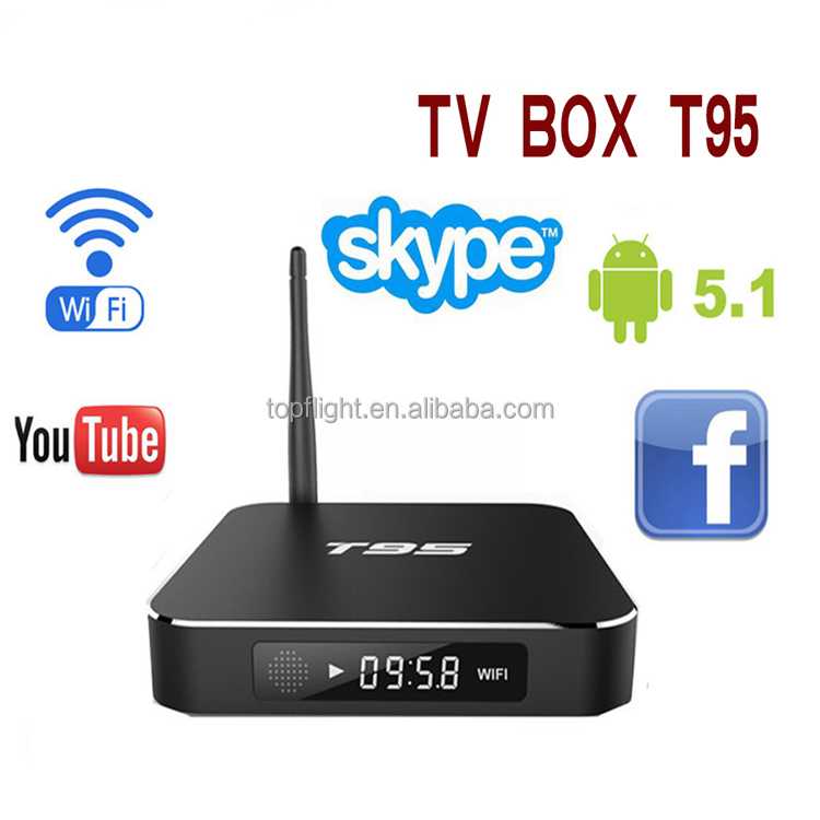 Quad Core Amlogic S905 kodi gel polish Android Medial Player XBMC Android 5.1 4K WIFI t95 TV Box