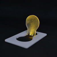 led bulb shape card Torch light