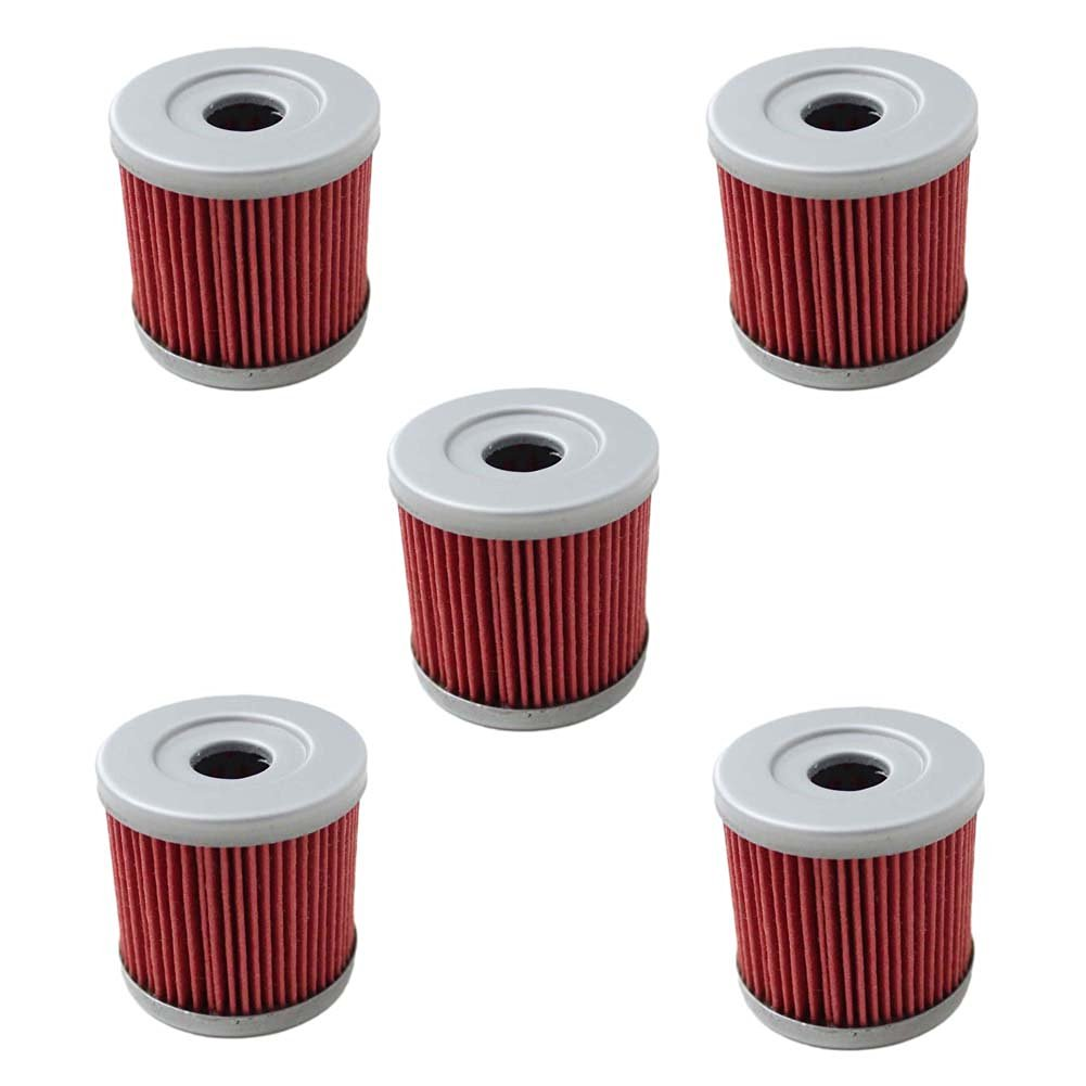 New Pack of 5 Oil Filter fit for Suzuki Z400 LTZ400 LT-Z400 Z LTZ 400 LTR450 LT-R450 LTR 450 DRZ400 Kawasaki KFX400 KFX 400 Artic Cat DVX400 DVX 400 Replace HF139 & KN139