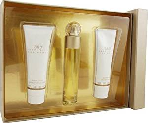 Perry Ellis 360 By Perry Ellis For Women. Set-edt Spray 1.7-Ounce & Body Lotion 3-Ounce & Shower Gel 3-Ounce