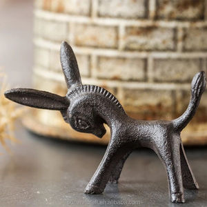 Wholesale natural cast iron metal little donkey animal figurines