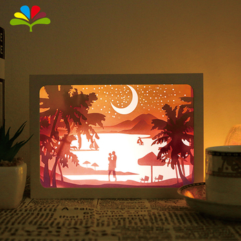 Artificial Picture Box Frame 3D 3d shadow box frame /paper photo frame /Wall Photo Frame Paper Cut Light Box