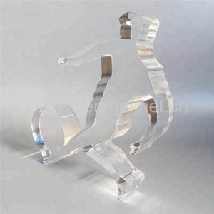 high polished acrylic trophy for sport competition