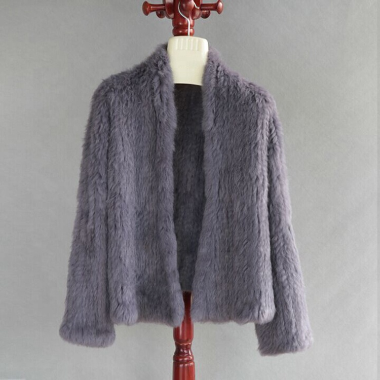11 Colours Thick Knitted Real Rabbit Fur Jacket Women <strong>Winter</strong> Warm <strong>Fashion</strong> Lady Fur <strong>Coat</strong>