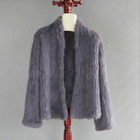 11 Colours Thick Knitted Real Rabbit Fur Jacket Women Winter Warm Fashion Lady Fur Coat