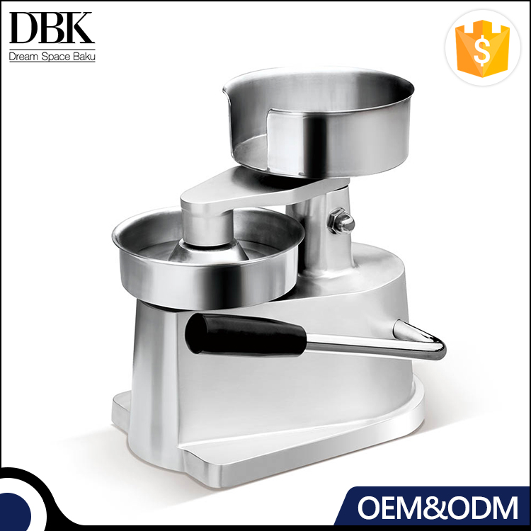 Restaurant 304 stainless steel patty bowl 100mm Manual hamburger patty press with aluminum alloy body
