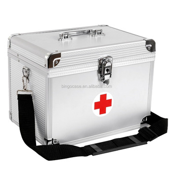 Household First Aid Kit Case Large Aluminum Medicine Storage Box - Buy  Medicine Storage Box,First Aid Case,Household Storage Box Product on
