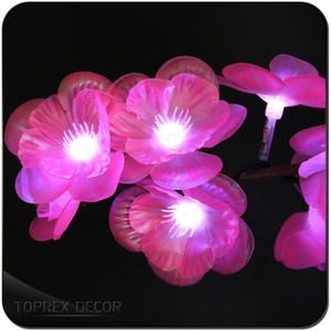 outdoor wedding decorations PVC Cable copper wire led flower cherry string led light chain