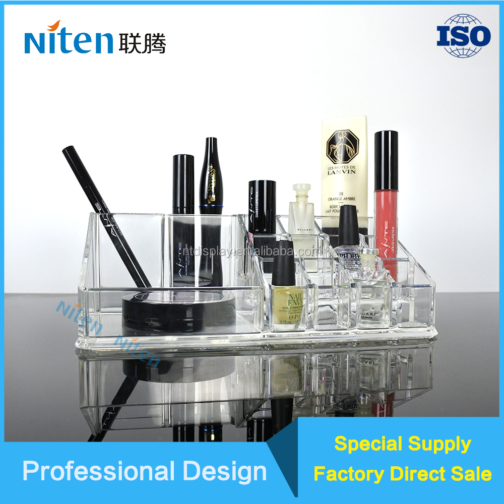Professional customized lipstick stand cosmetic tray