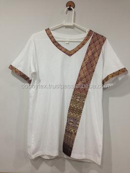 Spa t shirt thai pattern comfortable and original dobbytex for Spa uniform bangkok