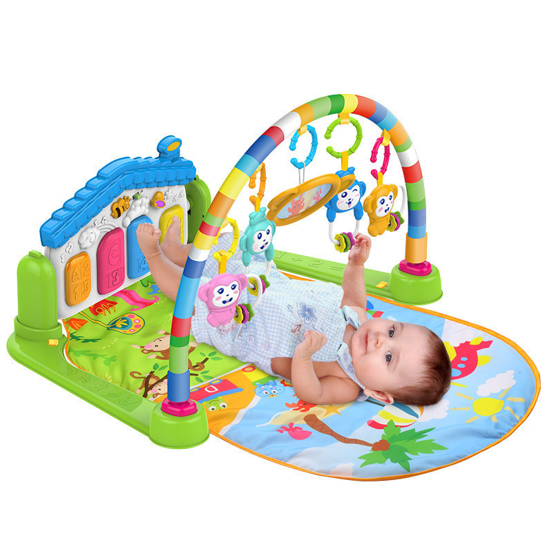 Musical Activity 6 Month Baby Kids Plastic Gym Piano Infant Play Mat